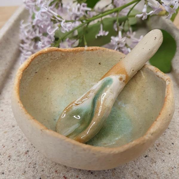 miseczka ceramiczna zielona cieniowana_dostępna w degustacja.sklep