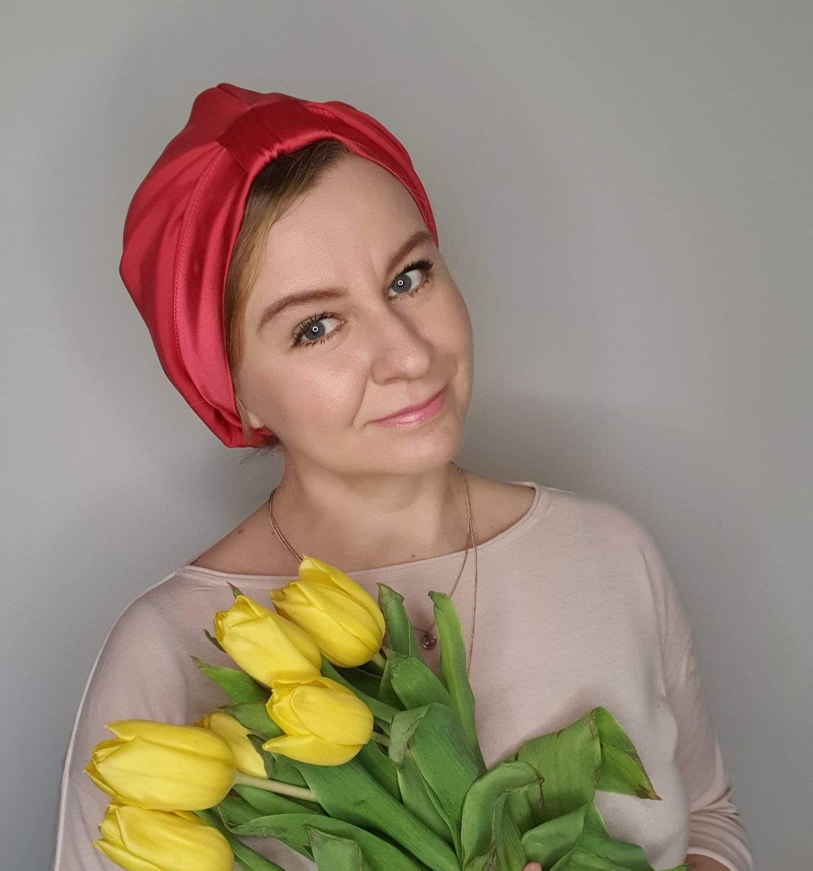 turban koralowy_dostępny w degustacja.sklep