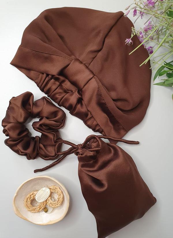jedwabny turban czekoladowy_flat lay600x600_dostepny w degustacja.sklep