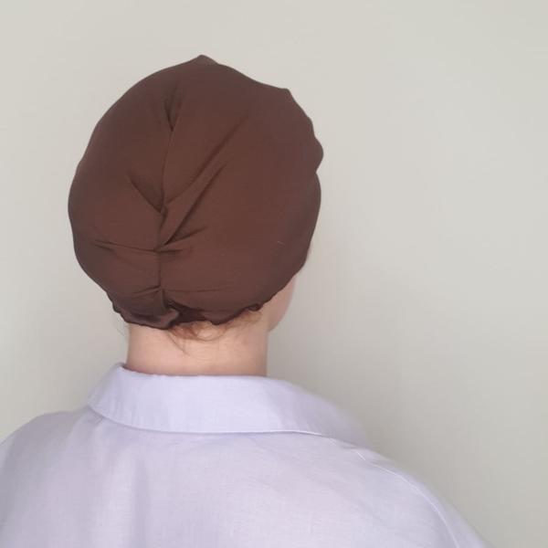 jedwabny turban czekoladowy_tył600x600_dostepny w degustacja.sklep