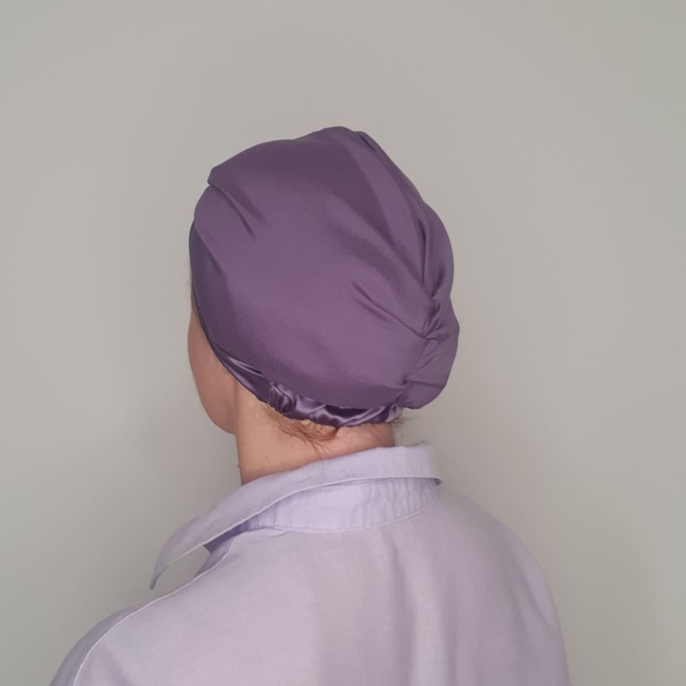 jedwabny turban lawendowy_tył_600x600_dostępny w degustacja.sklep